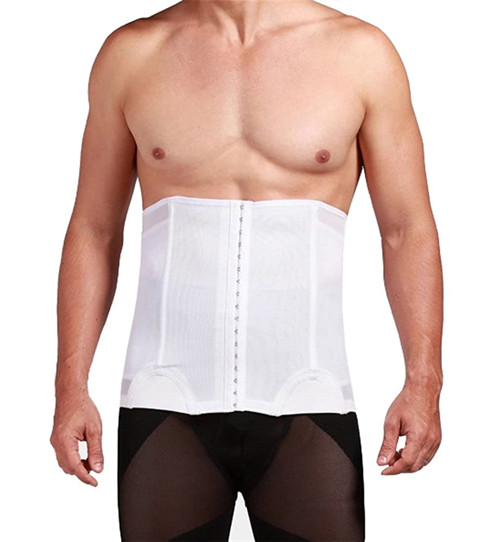 Mens 3 Hooks Instant Tummy Tuck Firm Compression Waist Trimmer Slimming Belt