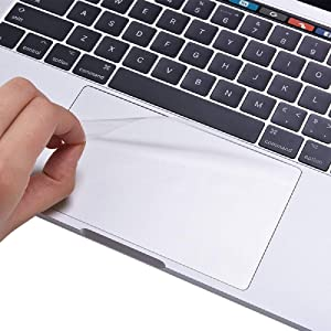 Se7enline 2020 MacBook Pro 13 inch Trackpad Protector [2 Pack] Touch Pad Cover Unti-Scratch Unti-Water for MacBook Pro 13.3-Inch with Touch Bar Model A2251/A2289 Laptop Accessories, Clear/Transparent