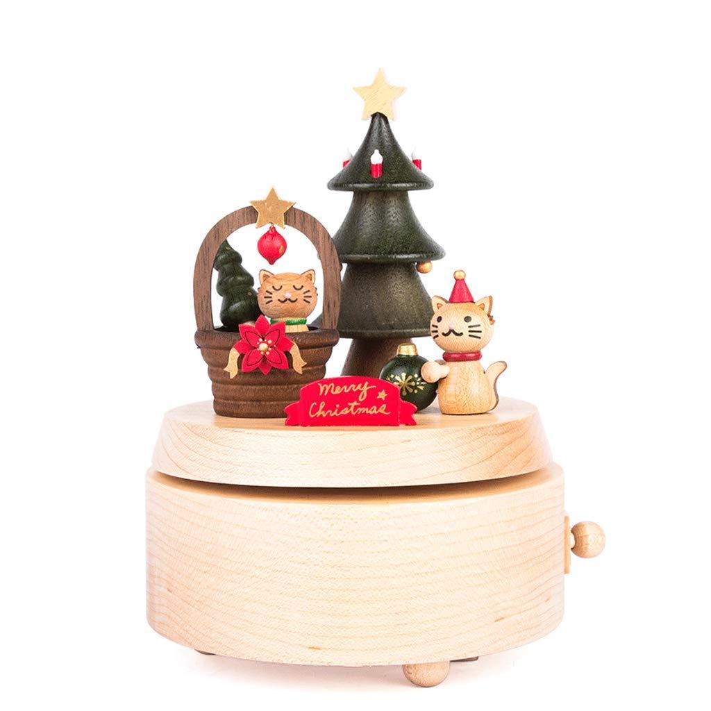 Spieluhr singen Santa Spieluhr Handgemachte hölzerne Spieluhr Rotierende Spieluhr