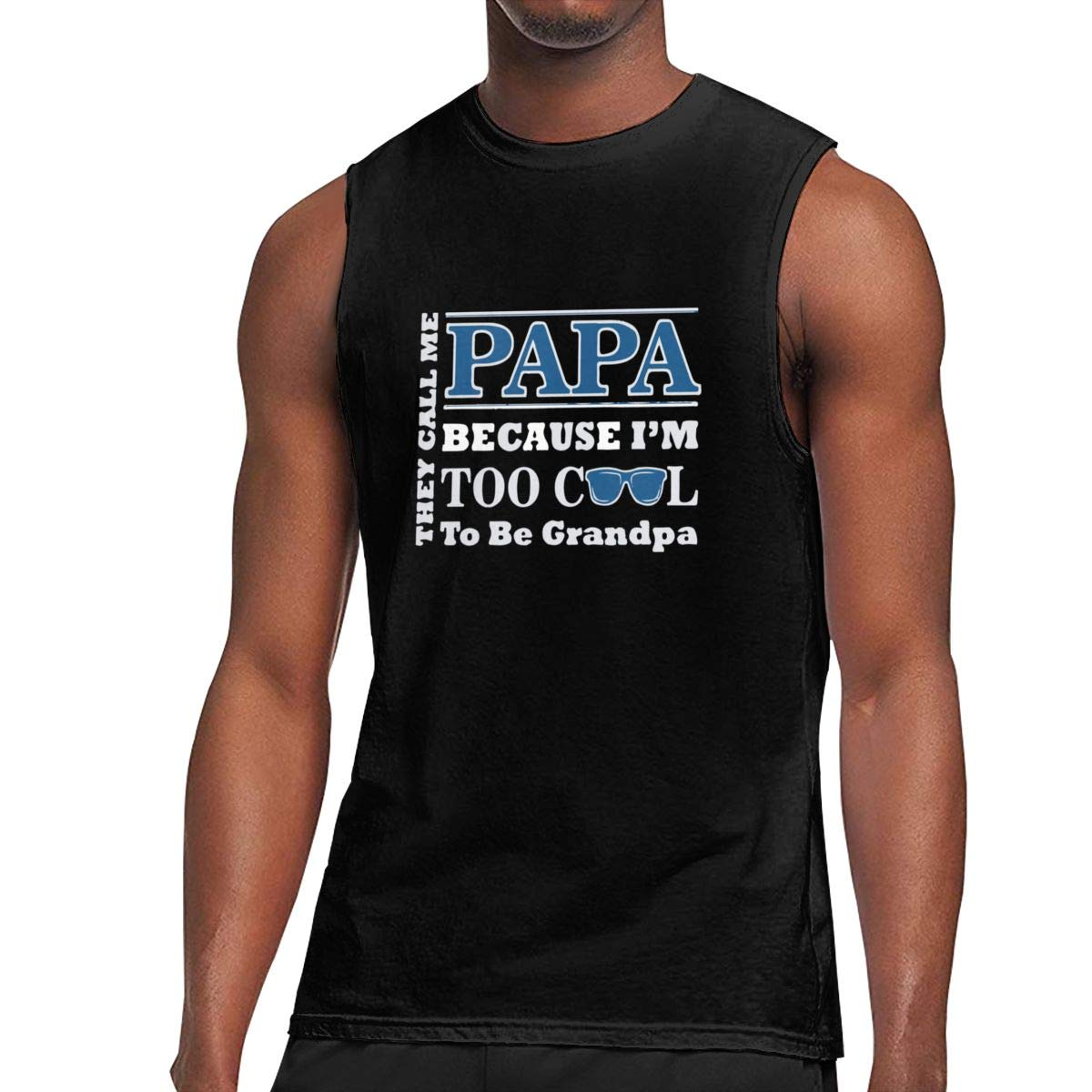 Seuriamin They Call Me Papa Because Too Cool S Ultra Soft Walk Sleeveless Muscle Short Sle