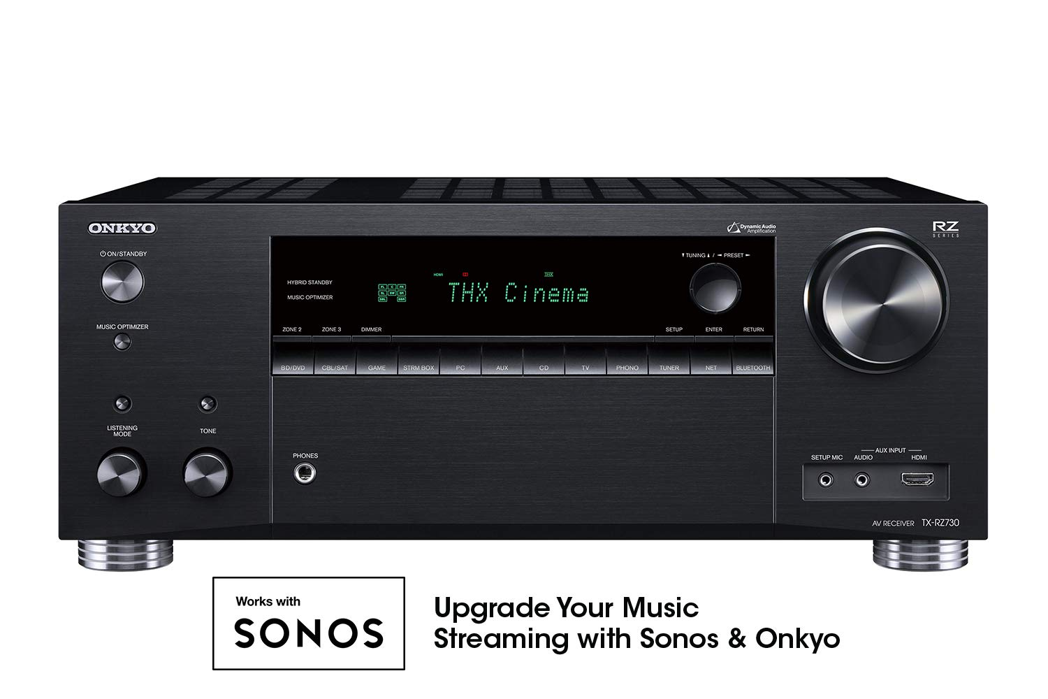 Onkyo TX-RZ730 9.2 Channel 4k Network A/V Receiver Black by Onkyo