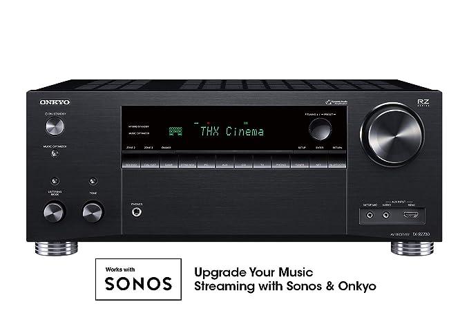 amazon com: onkyo tx-rz730 9 2 channel 4k network a/v receiver black:  electronics