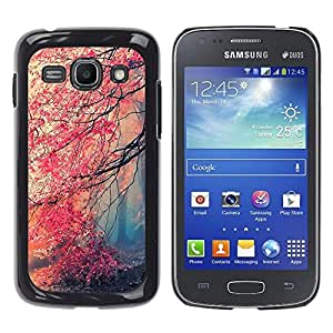 iKiki Tech / Estuche rígido - Fall Red Trees Forest Leaves Mystery - Samsung Galaxy Ace 3 GT-S7270 GT-S7275 GT-S7272