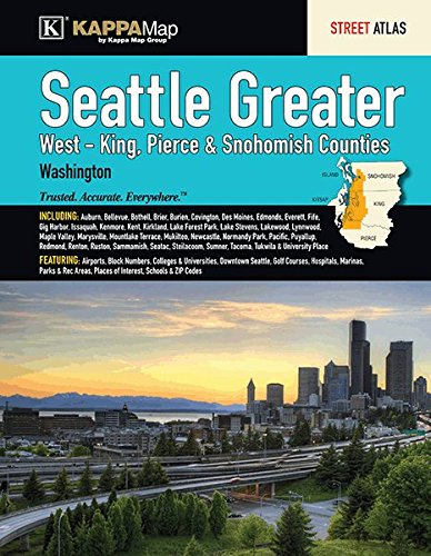The Seattle Greater (West - King, Pierce & Snohomish Counties), Washington Street Atlas (Greater Seattle Map)
