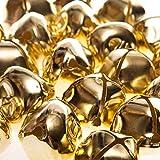 24 Gold 35mm Jumbo Jingle Bells for Crafts   Craft Bells