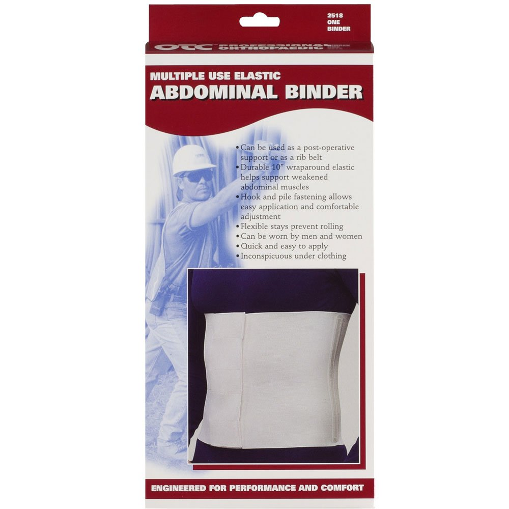 Amazon.com: OTC Abdominal Binder, 10-Inch Chest and Rib Panel, Elastic, 3X-Large: Health & Personal Care