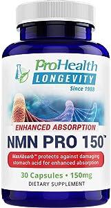 ProHealth NMN Pro 150 Enhanced Absorption (150 mg, 30 Capsules) Nicotinamide Mononucleotide