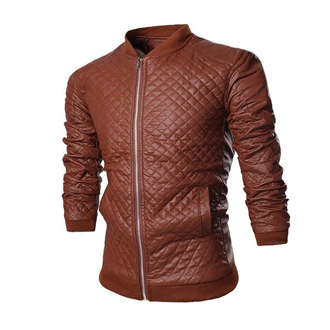 Hombres Primavera Oto?o PU Estilo Punk Leather Ropa Chaqueta Moda Ocio Locomotora Comprar Chaqueta Abrigo 7574: Amazon.es: Ropa y accesorios