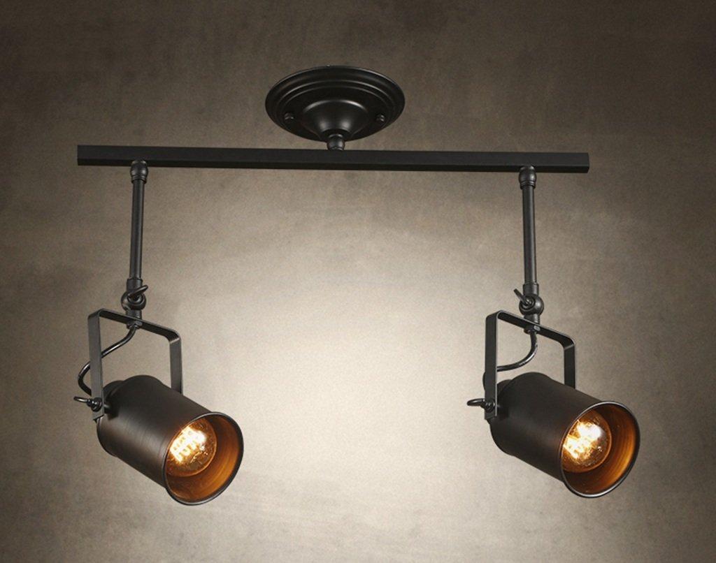 Home mall- Loft Industrie-stil Retro Lampe Scheinwerfer Cafés Kreative Persönlichkeit Wohnzimmer Küche Deckenleuchte ( größe   5243.5cm )