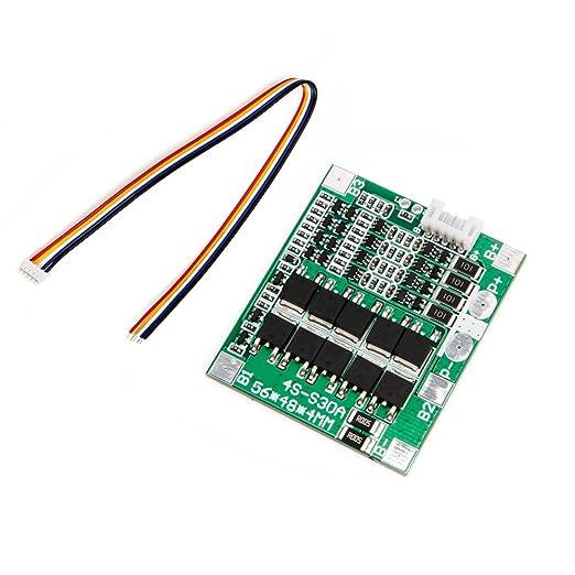 Zkee Shop 4S 12V-14.8V 30A Lithium Battery 18650 Charger Protection Board Balance Module: Amazon.es: Electrónica