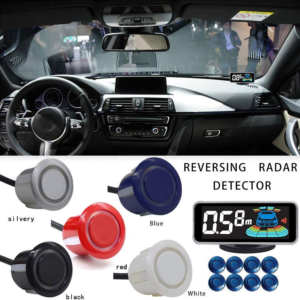 Class-Z Auto R/ückfahrwarner Einparkhilfe,8 Sensoren Hinter Mit LED Farb Display Auto Parken Sensor System Radar Kit