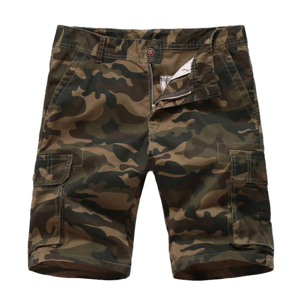 LEERYAAY Cargo/&Chinos Fashionable Mens Camouflage Button-Pocket Overalls Wind Overalls Shorts