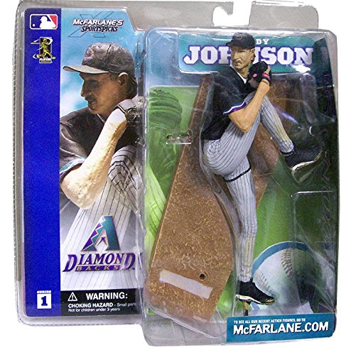 McFarlane Toys MLB Sports Picks Series 1 Action Figure Randy Johnson (Arizona Diamondbacks) Black Jersey
