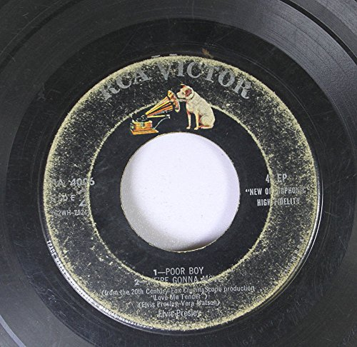 Elvis Presley 45 RPM 1- Poor Boy 2- We're Gonna Move / 1- Love Me Tender 2- Let Me (Giraffe Tender)