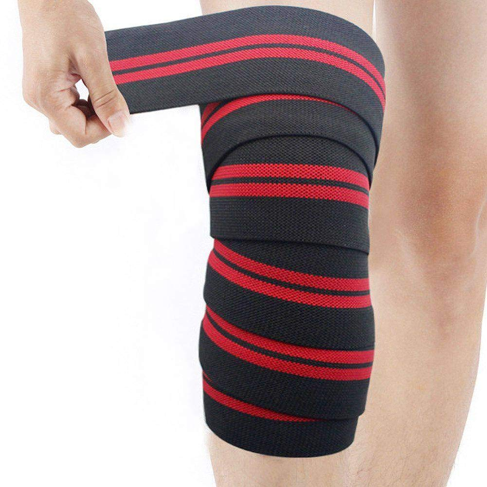 Amazing Protective Weightlifting Squat Knee Guards Elastic Compression Knee Brace Bandage Straps Support for Basketball Tennis