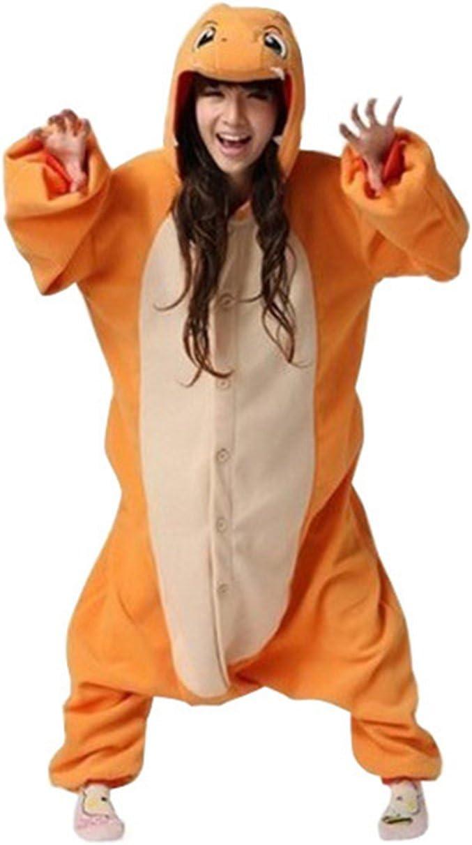 f/ür Erwachsene Kigurumi und Cosplay geeignet auch als Kost/üm f/ür Halloween COHO Unisex-Schlafanzug//Einteiler im Design der Pok/émon-Figur Glumanda