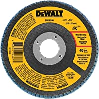 DEWALT DWA8206H 40 Grit Zirconia T29 Flap Disc, 4-1/2-Inch x 5/8-11-Inch