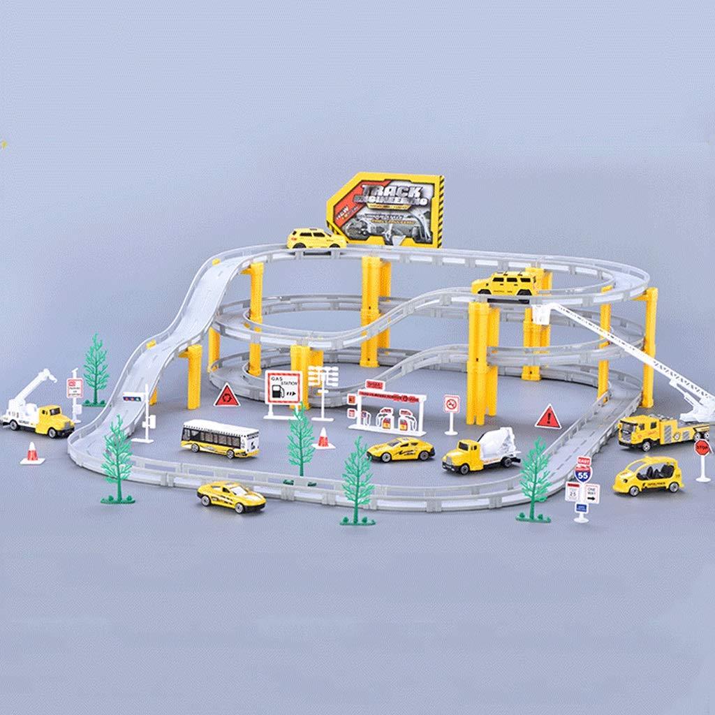 Large LINGLING-Verfolgen Track Toys Züge Landebahnen Rennwagen Kinderspielzeug Jungen Geschenke - Technik Anzüge (größe   L)