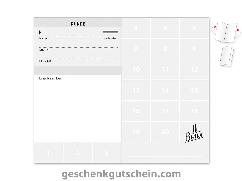 100 Stk. Stk. Stk. Kundenkarten für Bäckereien, Backstuben, Konditoreien S558 B076SVJMWF | Elegantes und robustes Menü  284abb