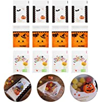 Cabilock 300PCS Halloween Self Adhesive Candy Cookie Bags Clear Cellophane Bags 3 Different Style Cellophane Treat Bags…