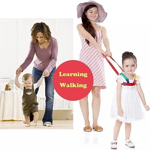 Suntapower Anti perdidos Equipo para Beb/é,2 in 1 Walking Arn/és y riendas Aprendiendo a caminar para Ni/ños 0-5 A/ños,Amarillo//Verde
