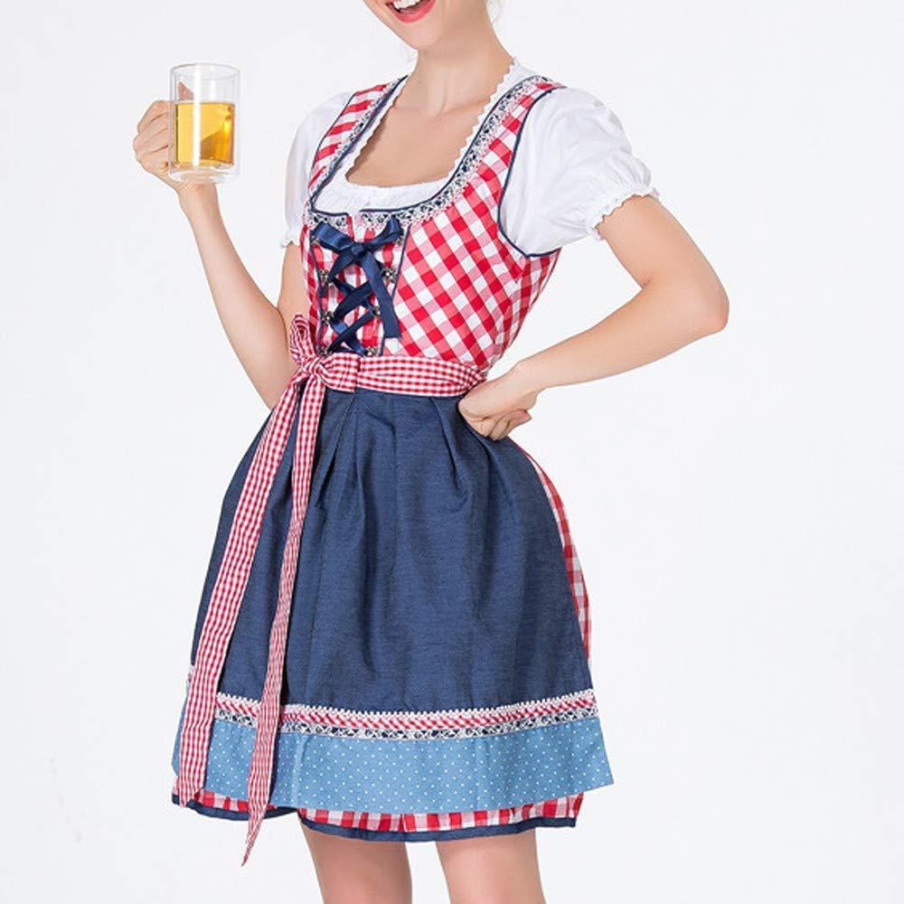 Amazon.com: Delantal de vendaje para mujer, diseño de bávaro ...