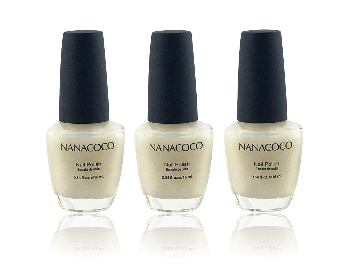 Amazon.com: Nanacoco Nail Polish Color Lacquer Nail Calcium 3-Pack ...