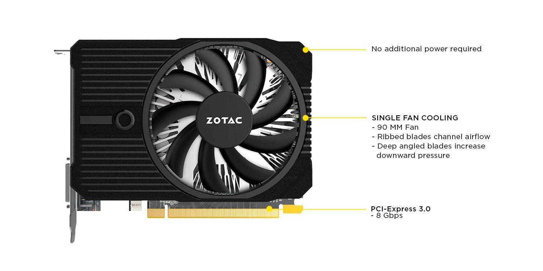 Zotac Geforce Gtx 1050 Ti Mini 4gb Gddr5 Displayport Inno 3d 1050ti Ddr5 Compact 128 Bit Gaming Graphic Card Zt P10510a 10l Computers Accessories