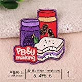 ptk12 1PCS Fruit Cabbage Patch Kids Iron On Cartoon Patches Clothes Cheap Cute Embroidered Food Patch Vegetables Badge (01)