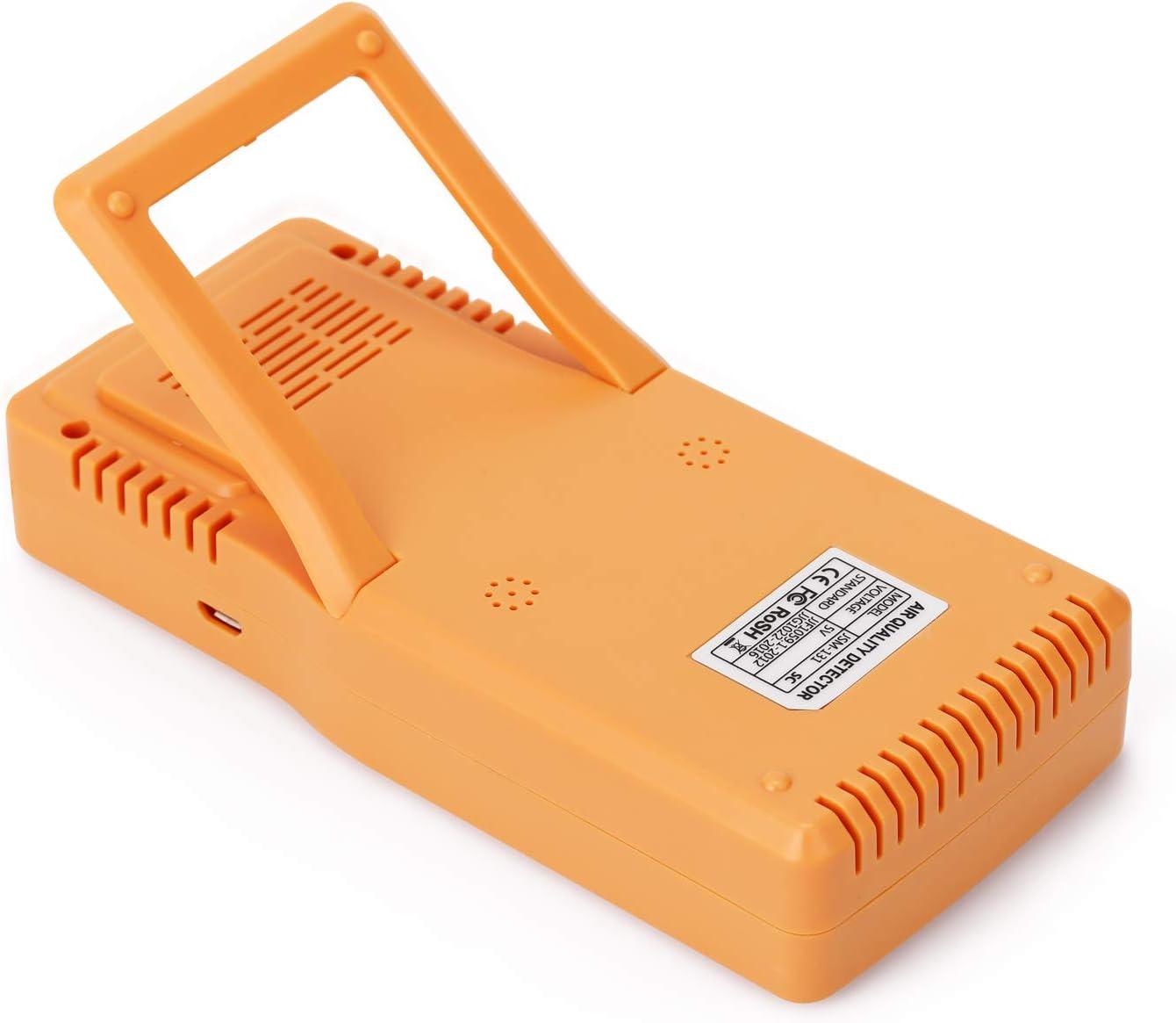 Kecheer Medidor dioxido carbono,Medidor de co2//HCHO//TVOC//AQI,Detector Co2 en aire con term/ómetro higr/ómetro