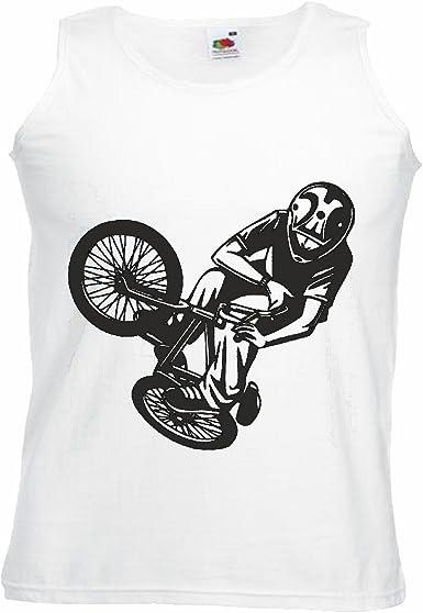 Camisa del músculo Tank Top BMX Freestyle Motocross Bicicleta Calle Bicicleta Freestyle Chopper Mountainbike Manga en Blanco: Amazon.es: Ropa y accesorios
