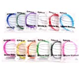 GOGO 12PCS Silicone Wristbands, Adult Rubber Bracelets, Party Accessories