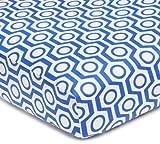 American Baby Company Sábana de percal para cuna Royal Hexagon Una talla