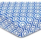 American Baby Company 100% Cotton Percale Fitted Crib Sheet, Royal Hexagon