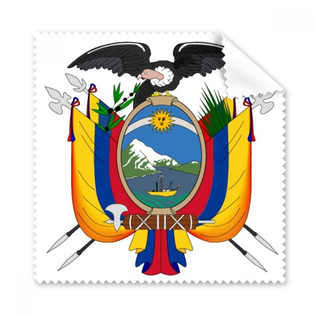 Quito Ecuador ナショナルエンブレム メガネクロス クリーニングクロス ギフト 電話画面クリーナー 5個   B071XGPWPK