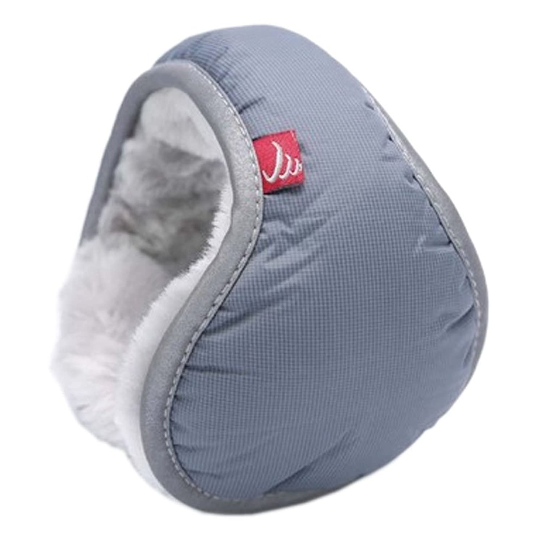 Warm Plüsch Ohr-Wärmer Faltbare Earmuffs für Outdoor Skifahren, Grau