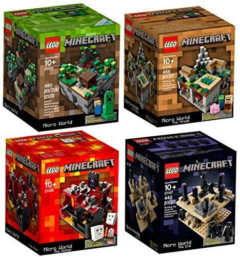 LEGO Minecraft Set Lego Minecraft Collection 4 Set [21102, 21105, 21106, 21107] (Lego Minecraft Micro)