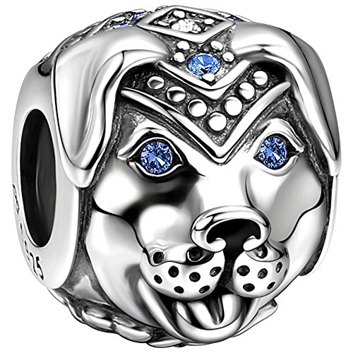SOUFEEL Faithful Dog Bead Charms 925 Sterling Silver Talisman Charm For (Dog Theme Charm Bracelet)