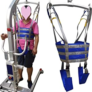 Patient Lift Medical Slings Walking Standing Aids Full Body Transfer Belt Strap for Thigh Hip Waist Lumbar Back Supports Leg Exercise with Padded Buffer Large Load Capacity 506 Lbs AnyBack