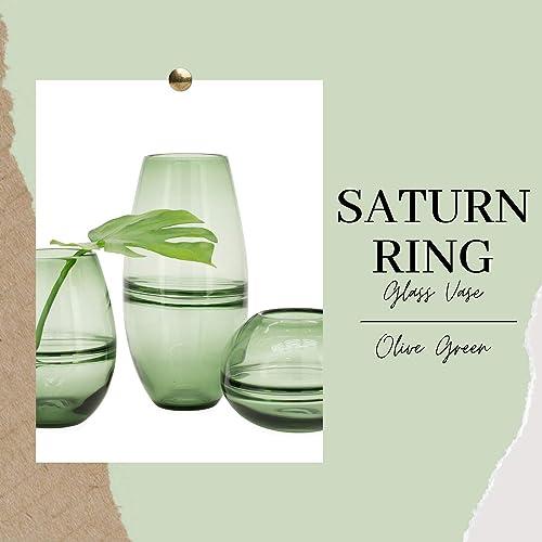Torre Tagus Saturn Ring Decorative Glass Bullet Vase