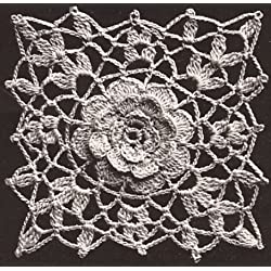 Vintage Crochet PATTERN to make - Irish Rose Crochet MOTIF BLOCK Bedspread Cinderella Pattern. NOT a finished item. This is a pattern and/or instructions to make the item only.
