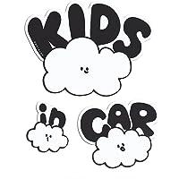 No BoRDER(ノーボーダー) KIDS IN CAR ステッカー オリジナルドライブサイン CLOUD FAMILY 2 【シールタイプ】 STC-002AAG/S