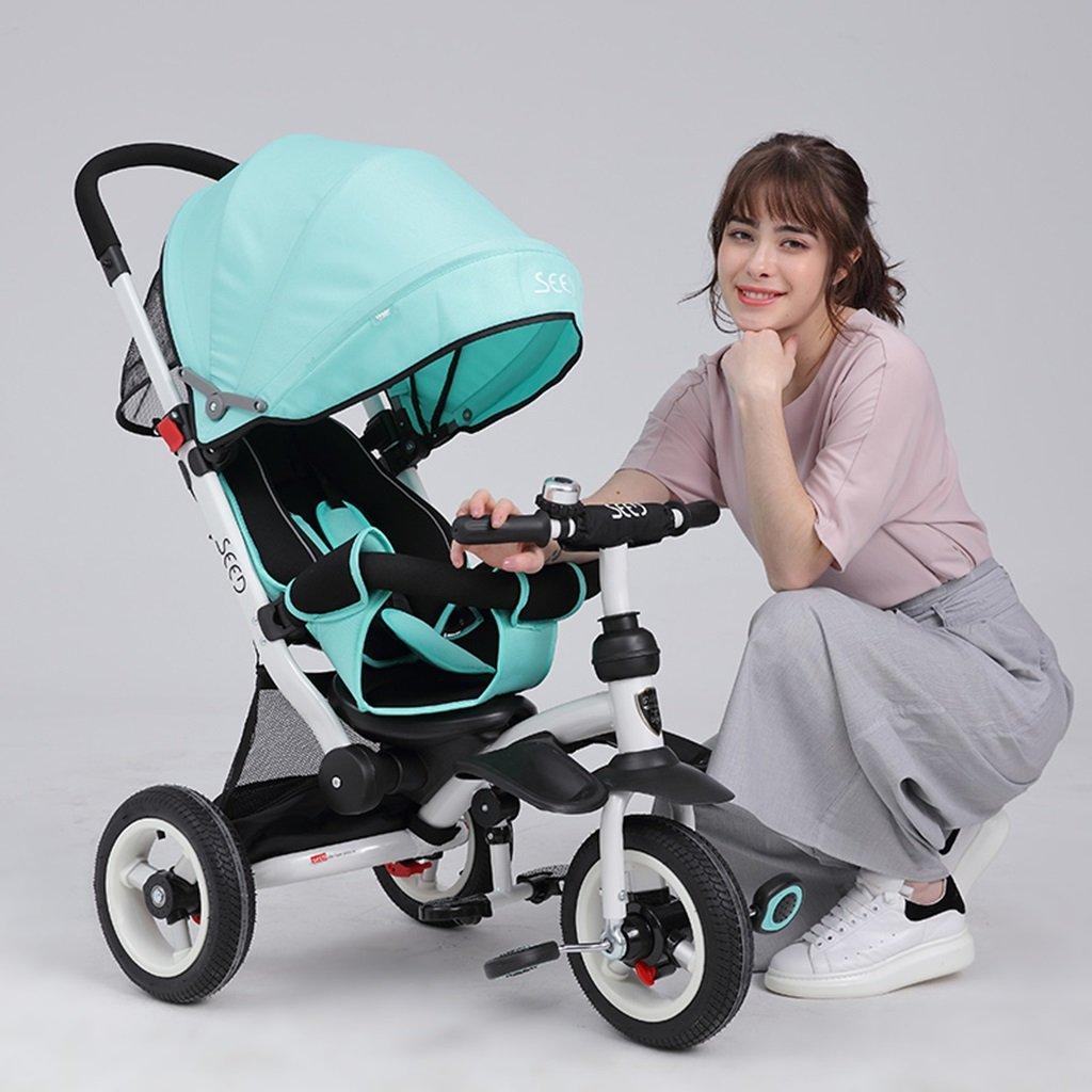 HAIZHEN マウンテンバイク 子供の三輪車座って/乗馬の赤ちゃんカートは、天井非膨張性のチタンの空の車の自転車を調整する 新生児 B07DL777WS 4 4