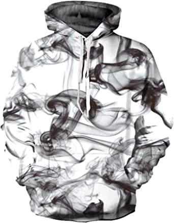 Mujer Unisexo Sudadera con Capucha Arte Impreso Suéter Cordón con Bolsillos de Mangas Largas