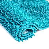 Bathroom Floor Mat, GeekDigg Non Slip Microfiber Shag Bath Mat, Very Soft and Absorbent Shower Mat, 20 x 32-Inches (Tropical Green)