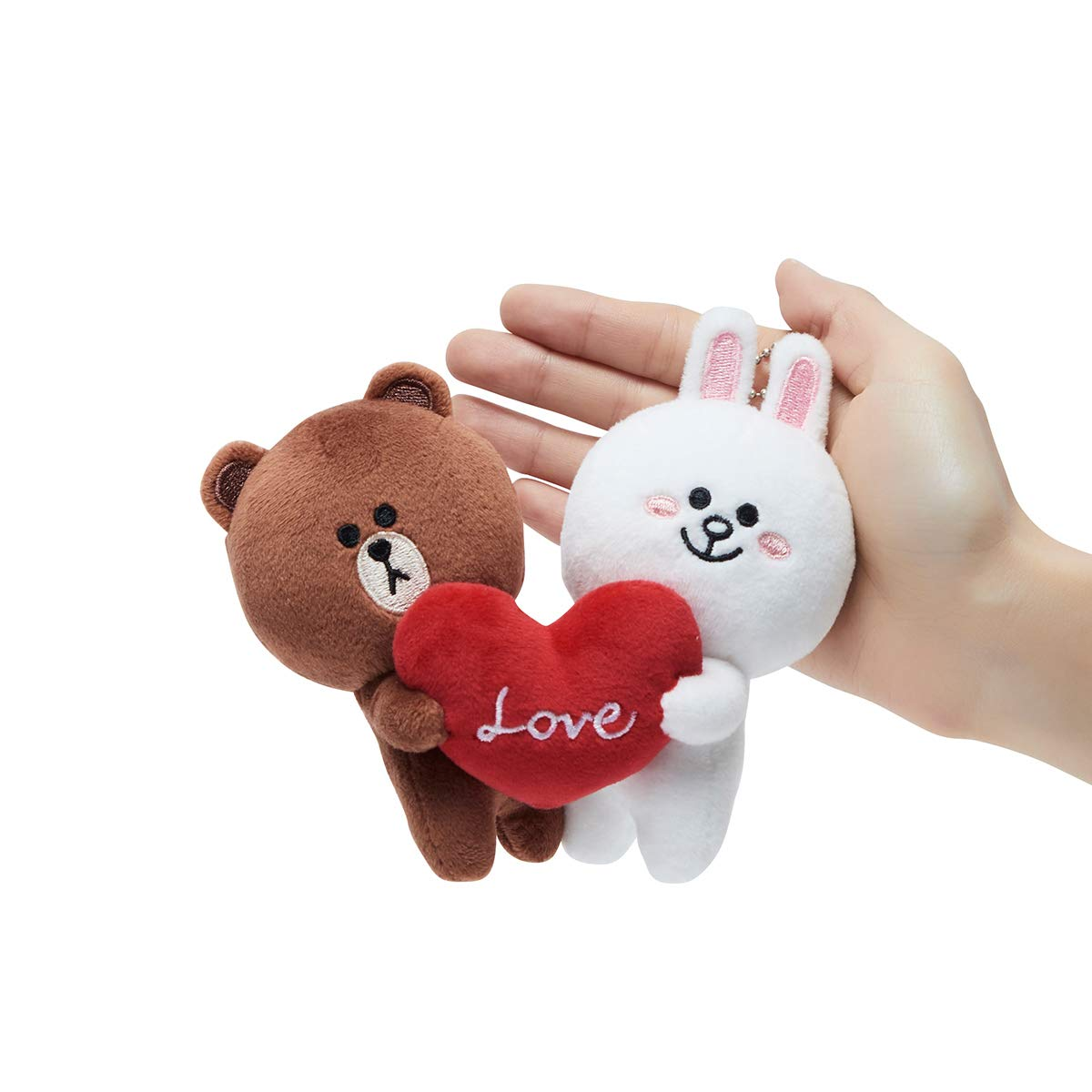 LINE FRIENDS Love Bag Charm - BF Character Keychain Décor 15CM, Brown/White by LINE FRIENDS (Image #3)