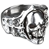 viva adorno Silberring Totenkopf Pirat Herrenring Daumenring 925 Sterlingsilber SR29