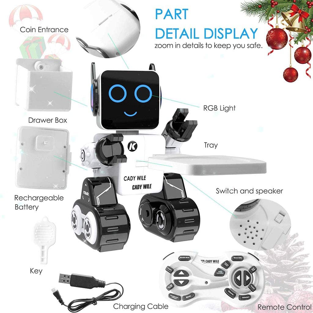 Intelligent Voice-Roboter-Spielzeug-Drahtlose Fernsteuerungsroboter Interactive Intelligent Electronic Intelligente Roboter-Mädchen Toy Boy Singen Tanzen Programmierung Roboter A