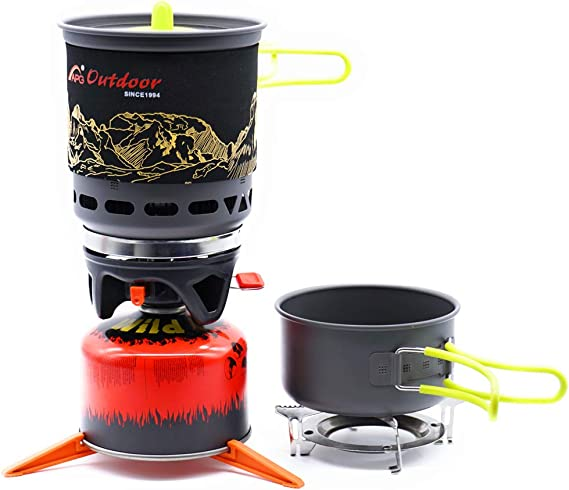 APG - Cuenco de Cocina para Camping con Sistema de cocción a Gas y Cocina al Aire Libre, Quemador de Gas y propano portátil