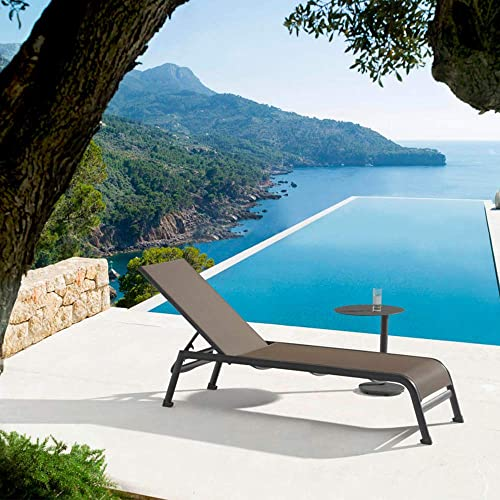 Whiteline Modern Outdoor Living Gray Sunset Contemporary Outdoor Chaise